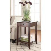 Convenience Concepts American Heritage Wood/Veneer End Table, Espresso, Each (7104077-ES)