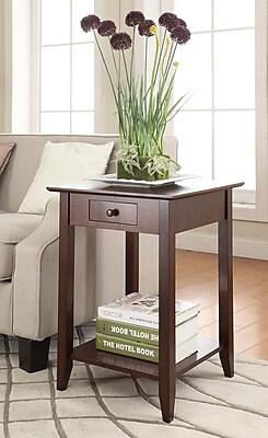 Convenience Concepts American Heritage Wood/Veneer End Table, Espresso, Each (7104077-ES)