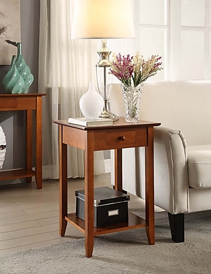 Convenience Concepts American Heritage Wood/Veneer End Table, Cherry, Each (7104077CH)