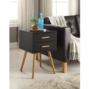 Convenience Concepts Olso 2 Drawer Wood End Table, Black, Each (203522BL)