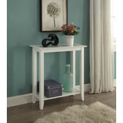 Convenience Concepts Carmel Wood/Veneer Console Table, White, Each (938081W)