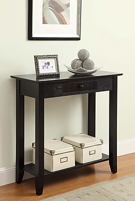 Convenience Concepts American Heritage Wood/Veneer Console Table, Black, Each (8013081-BL)