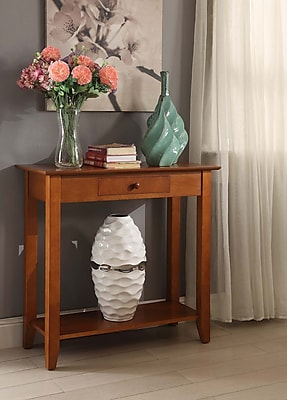 Convenience Concepts American Heritage Wood/Veneer Console Table, Cherry, Each (8013081CH)