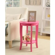 Convenience Concepts American Heritage Wood Console Table, Pink, Each (7106259PK)