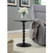 Convenience Concepts Spindle Wood Pedestal Table, Black, Each (131355BL)