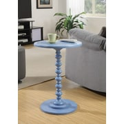 Convenience Concepts Spindle Wood Pedestal Table, Blue, Each (131355BE)