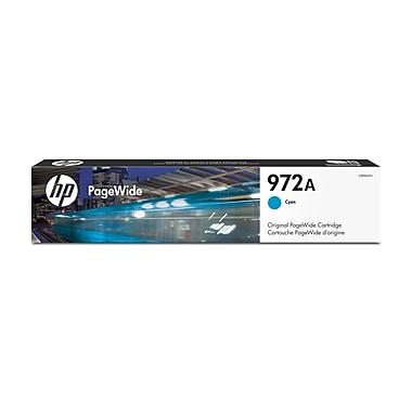 HP 972A Cyan Original PageWide Ink Cartridge (L0R86AN)