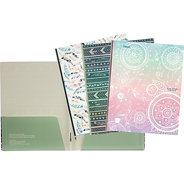 Five Star® Style Pocket & Prong Portfolio, Assorted Designs