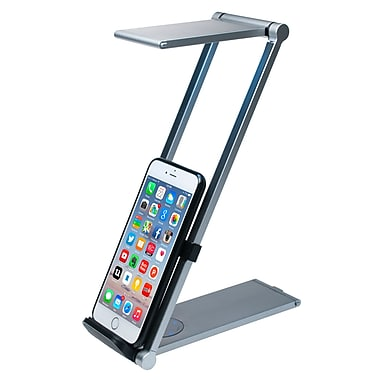 CTA Digital Tablet/Phone Foldable Desk Lamp Stand, (PAD-FLD)