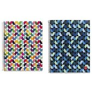 "Miquelrius Origami Light & Dark 4-subject Notebooks, College Ruled, 6.5"" x 8"", 2/Pack (2917)"