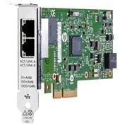 HP – Carte réseau Gigabit PCIe 2 ports 361T, PCI Express x4, 2 ports, 2x réseau (RJ-45), (C3N37AA)