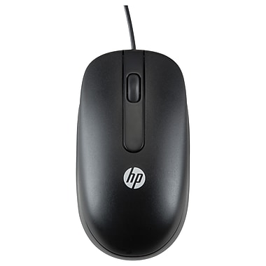 HP USB 1000dpi Laser Mouse, Laser, Cable, Black, USB, (QY778AT)