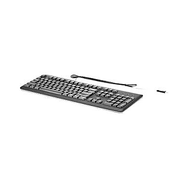 HP USB Keyboard, Cable Connectivity, USB Interface, French (Canada), Compatible with Computer, (QY776AA#ABC)