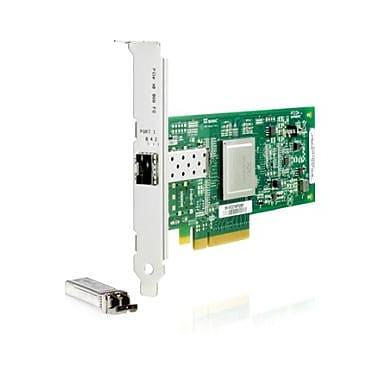 HP 82E 8Gb 2port PCIe Fibre Channel Host Bus Adapter, 2 x, PCI Express, 8 Gbit/s, (AJ763SB)