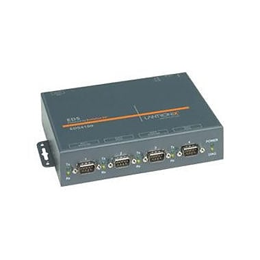 Lantronix EDS4100 4Port Device Server with PoE, 4 x DB9, 1 x RJ45, (ED41000P0-01)
