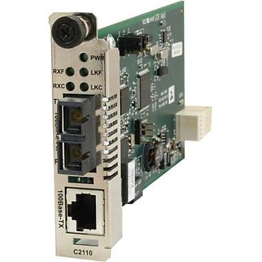 Transition Networks – Convertisseur média Ethernet rapide C21101011, 1 port réseau (RJ-45), 1 port ST (C2110-1011)