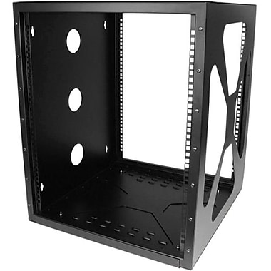 StarTech® 12U 19in Wall Mount Side Mount Open Frame Rack Cabinet, 19 12U Wall Mounted, (RK1219SIDEM)