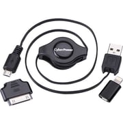 CyberPower iDevice USB cable kit for Apple devices, (CPU3RTAKT)