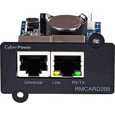 CyberPower – RMCARD205 UPS et ATS PDU, carte de gestion à distance, SNMP/HTTP/NMS/Enviro port, 10/100BaseTX, sériel