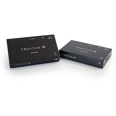 C2G TruLink HDMI over Cat5 Extender Box Transmitter to Box Receiver Kit, 1 Input Device, 1 Output Device, (29210)