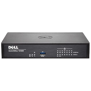 Sonicwall TZ400 Network Security/Firewall Appliance, Intrusion Prevention, Malware Protection, (01-SSC-0503)