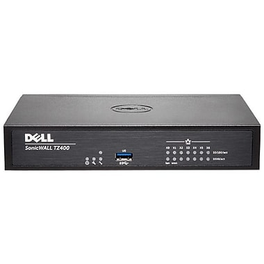 Sonicwall TZ400 Network Security/Firewall Appliance, Intrusion Prevention, Malware Protection, (01-SSC-0509)