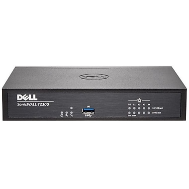 Sonicwall TZ300 Network Security/Firewall Appliance, Intrusion Prevention, Malware Protection, (01-SSC-0580)