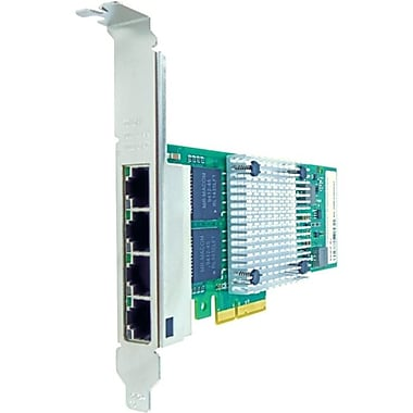 Axiom PCIe x4 1Gbs Quad Port Copper Network Adapter, PCI Express 2.1 x4, 4 Port(s), 4 Twisted Pair, (PCIE-4RJ45-AX)