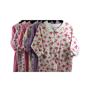 Small Wonders Baby Sleeper, Girls, 3 Months, 6/Pack , (SLEEPERASSTG3)