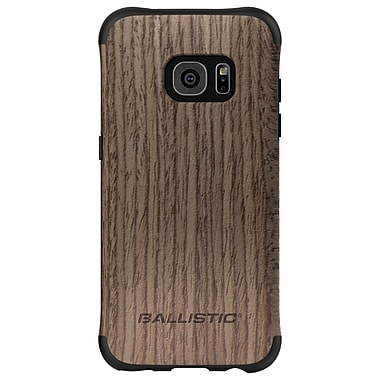 Ballistic Urbanite Select Case for GS7 Edge, Black/Dark Ash Wood, (UT1689B20N)