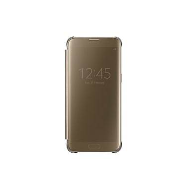 Samsung Clear View Cover Case for GS7 Edge, Gold, (EFZG935CFEGCA)