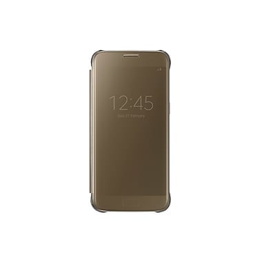 Samsung Clear View Cover GS7 Phone Case, Gold