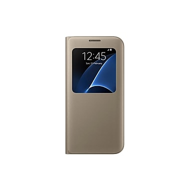 Samsung S View Cover Case for GS7 Edge, Gold