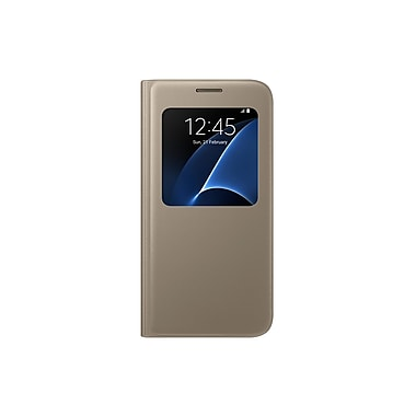 Samsung S View Cover GS7 Phone Case, Gold