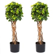 Pure Garden 30 Inch English Ivy Single Ball Topiary Tree (50-10017)
