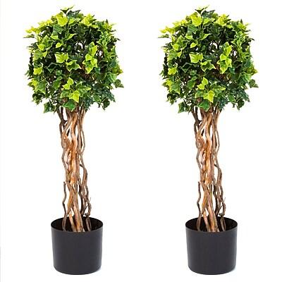 Pure Garden 30 Inch English Ivy Single Ball Topiary Tree (50-10017)
