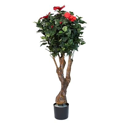 Pure Garden 48 Inch Hibiscus Tree with Flowers (50-10018)