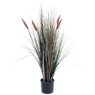 Pure Garden 4 Foot Ornamental Artificial Tall Cattail Grass (50-10013)