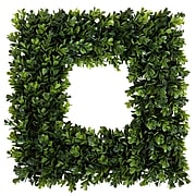 """Pure Garden Square Boxwood Wreath - 16.5"""" x 16.5"""" (M150013)"""