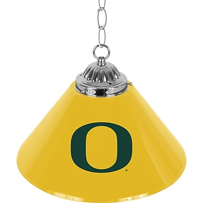 University of Oregon Single Shade Chrome Bar Lamp - 14 inch (ORG1200)