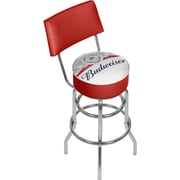 Budweiser Chrome Padded Swivel Bar Stool with Swivel - Label Design (AB1100-LBL)