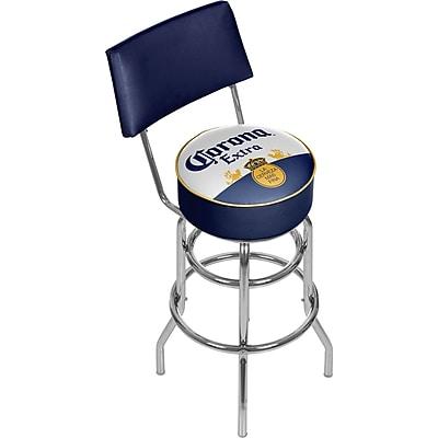 Corona Swivel Padded Swivel Bar Stool with Back - Label Design (CRN1100-LBL)
