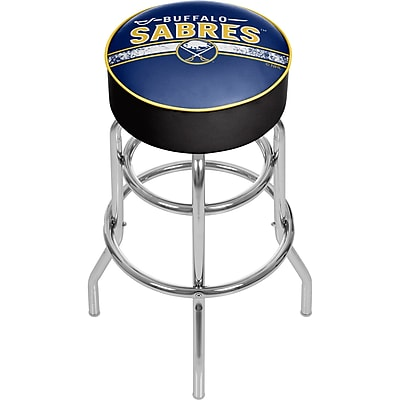 NHL Chrome Bar Stool with Swivel - Buffalo Sabres® (NHL1000-BS2)