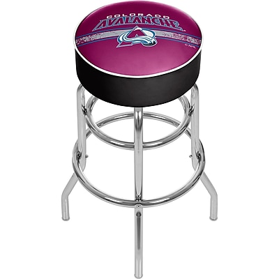 NHL Chrome Bar Stool with Swivel - Colorado Avalanche® (NHL1000-CA2)