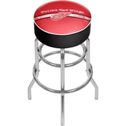 NHL Chrome Bar Stool with Swivel - Detroit Redwings® (NHL1000-DR2)