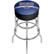 NHL Chrome Bar Stool with Swivel - Edmonton Oilers® (NHL1000-EO2)