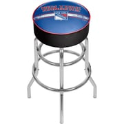 NHL Chrome Bar Stool with Swivel - New York Rangers® (NHL1000-NYR2)