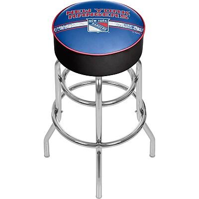 NHL Chrome Bar Stool with Swivel - New York Rangers® (NHL1000-NYR2)