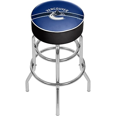 NHL Chrome Bar Stool with Swivel - Vancouver Canucks® (NHL1000-VC2)