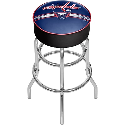 NHL Chrome Bar Stool with Swivel - Washington Capitals® (NHL1000-WC2)